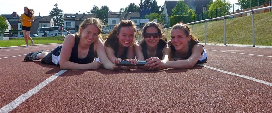 Victorious 4X400 team, shortly after qualifying for the European Finals.