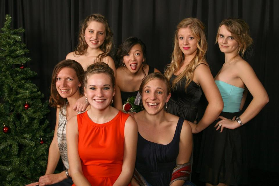 With our junior girls' small group at Christmas Banquet 2012