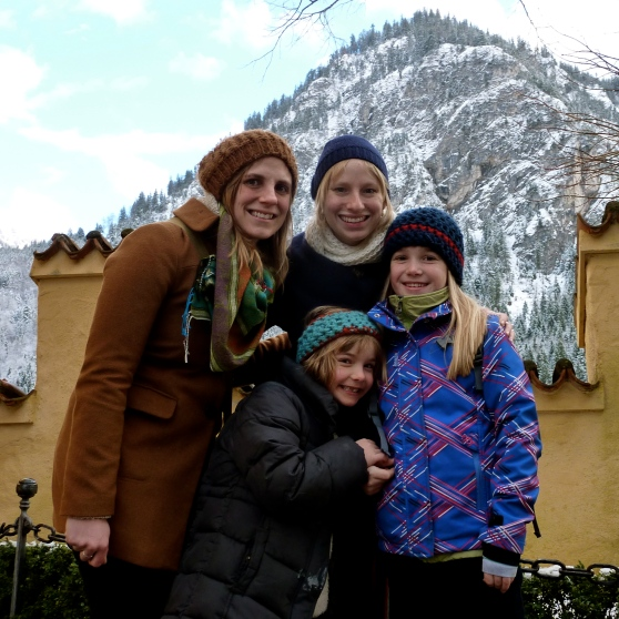 With my sister, Holly, and friends on a New Years' visit to Bavaria.