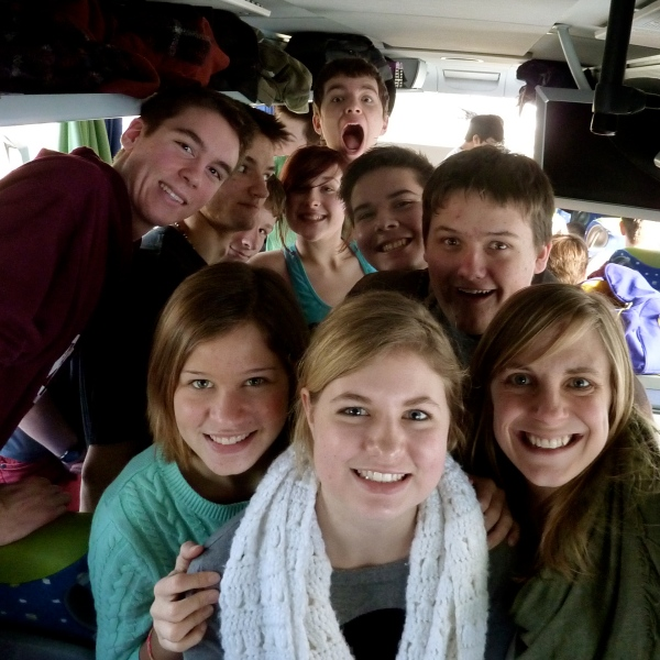 On the Junior bus to Winter Retreat, 2013