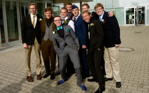 Timmy with his small group of senior boys.
