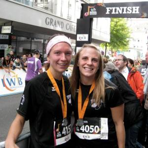 My roommate Emily and me at the finish!