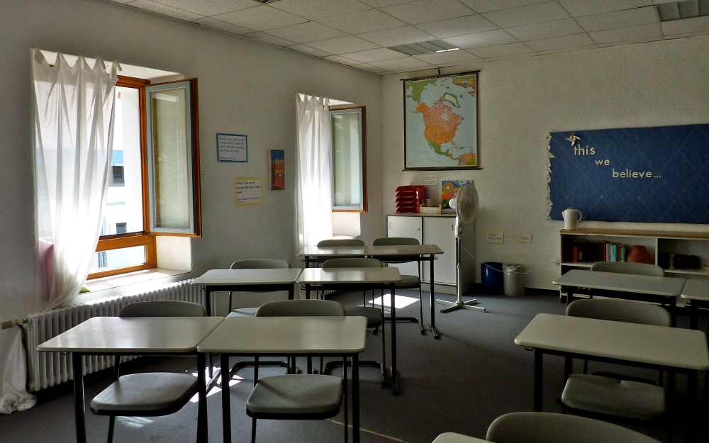 My classroom, all ready for new American Literature students to arrive!