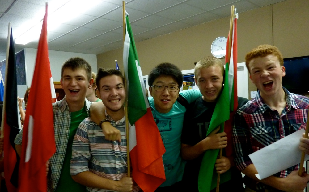 The men of HBR dorm represent their nations.