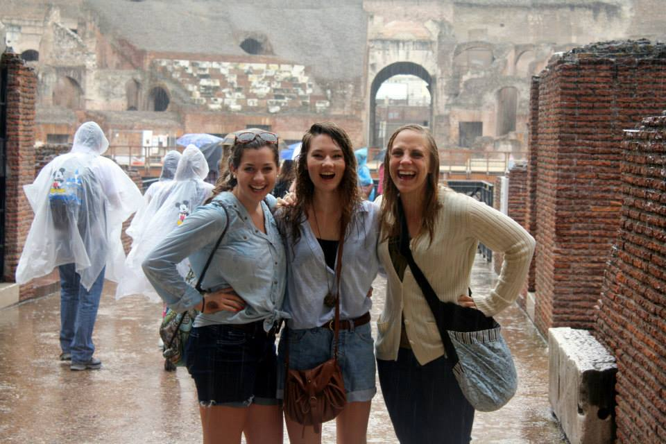 Getting drenched in the Colosseum