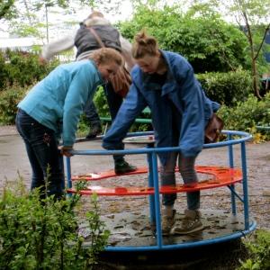 Senior girls go for a spin!