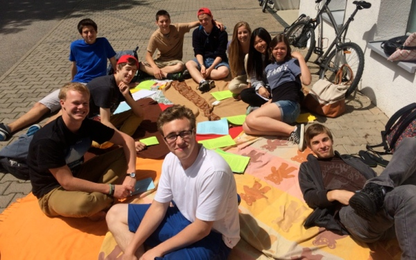 Period Five enjoying sunshine at our Literary Picnic on the last day of school.