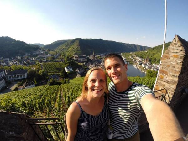 Catching some rays in the beautiful town of Cochem, Germany.