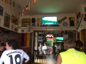 Watching Germany vs. France, 2014 Quarterfinal, on the Fourth of July!