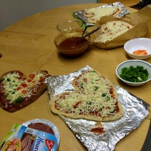 Heart-shaped pizza!