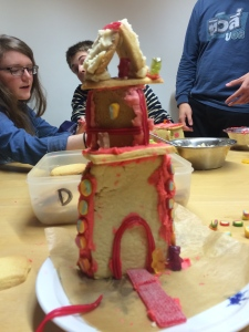 Our sugar cookie castle tower.