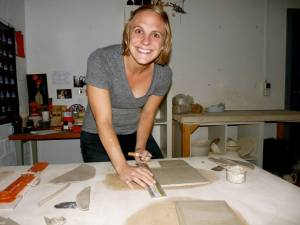 Making a butter dish! Photo: Donna Dahlstrom