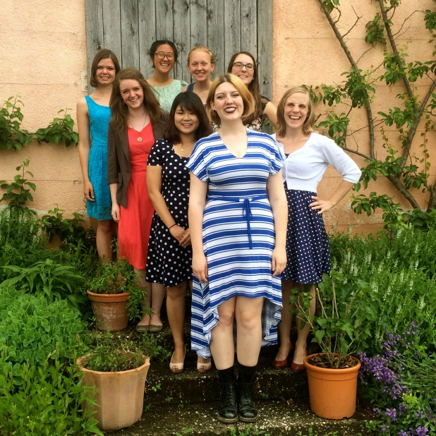 My beautiful small group at the Senior Girls' Tea