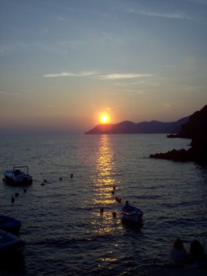 Sunset over the Mediterranean, Spring 2006