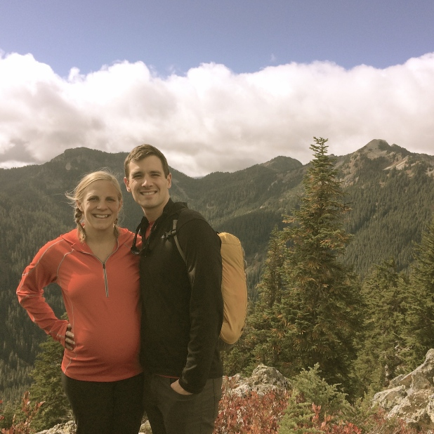 Enjoying an autumn hike up Mt. Catherine, just a few miles from our home!
