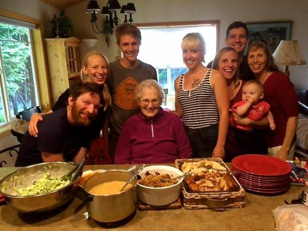 This is my family, sharing Thanksgiving in June on our last night in Washington. I miss them already.
